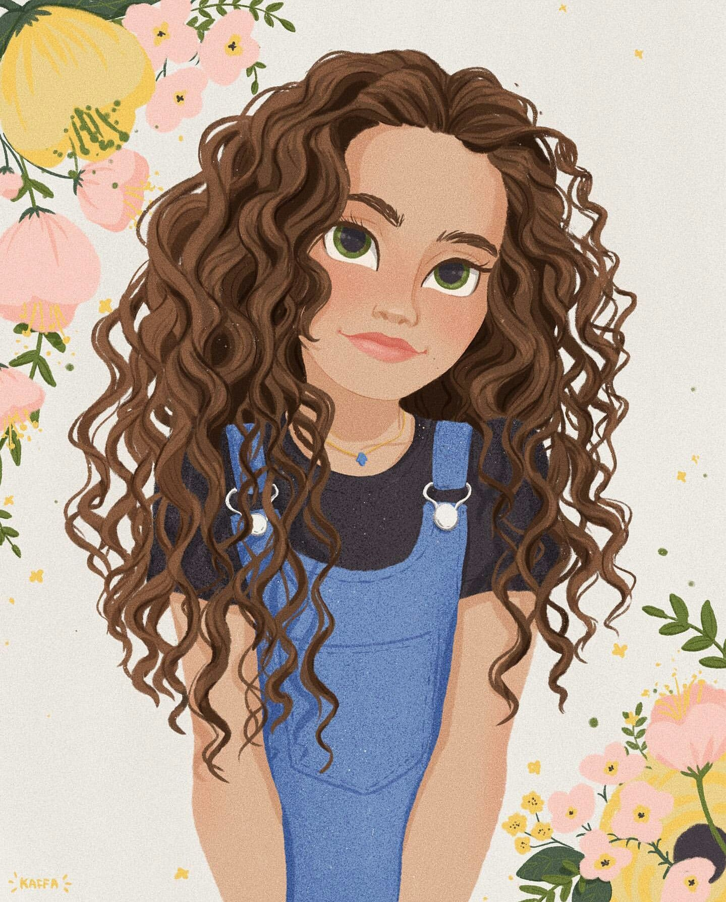 Pin By Kimberly C On Cizim In 2020 Curly Hair Cartoon Anime Curly Hair Girl Cartoon Characters