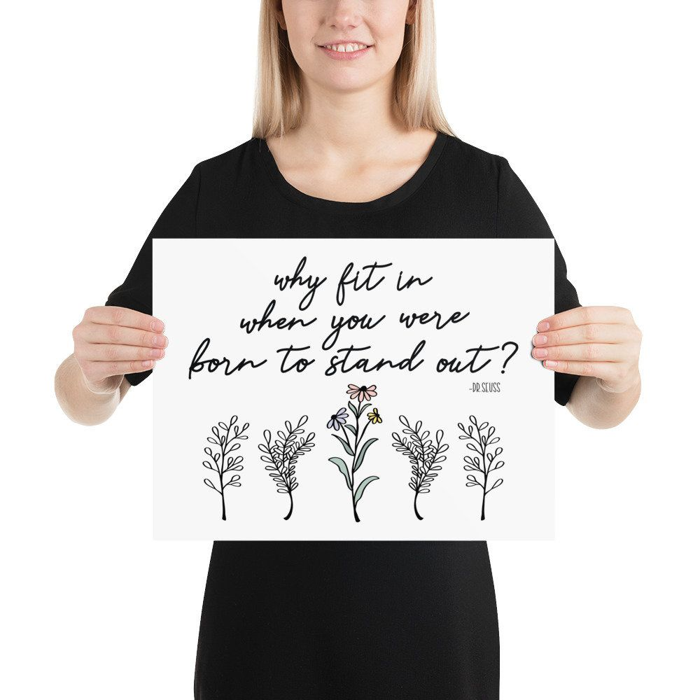 Why fit in when you were born to stand out?, behavior analyst poster, special education poster, autism awareness, aba therapy