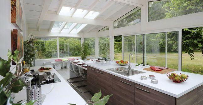 Cuisine dans une véranda, ce quu0027il faut savoir  taille, contraintes - cuisine dans veranda photo