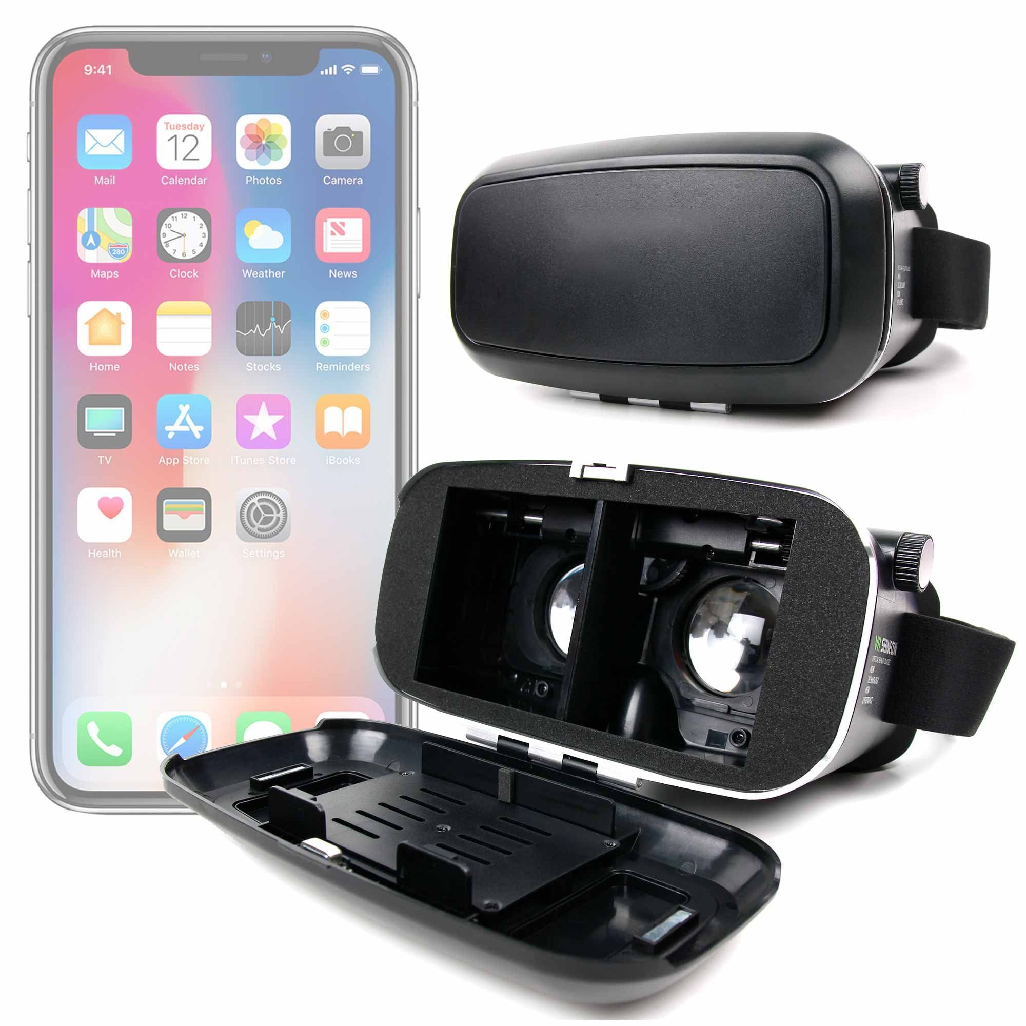 0661f90fab88 Padded 3D Virtual Reality VR Headset Glasses Compatible with the Apple  iPhone 8 8 Plus 7