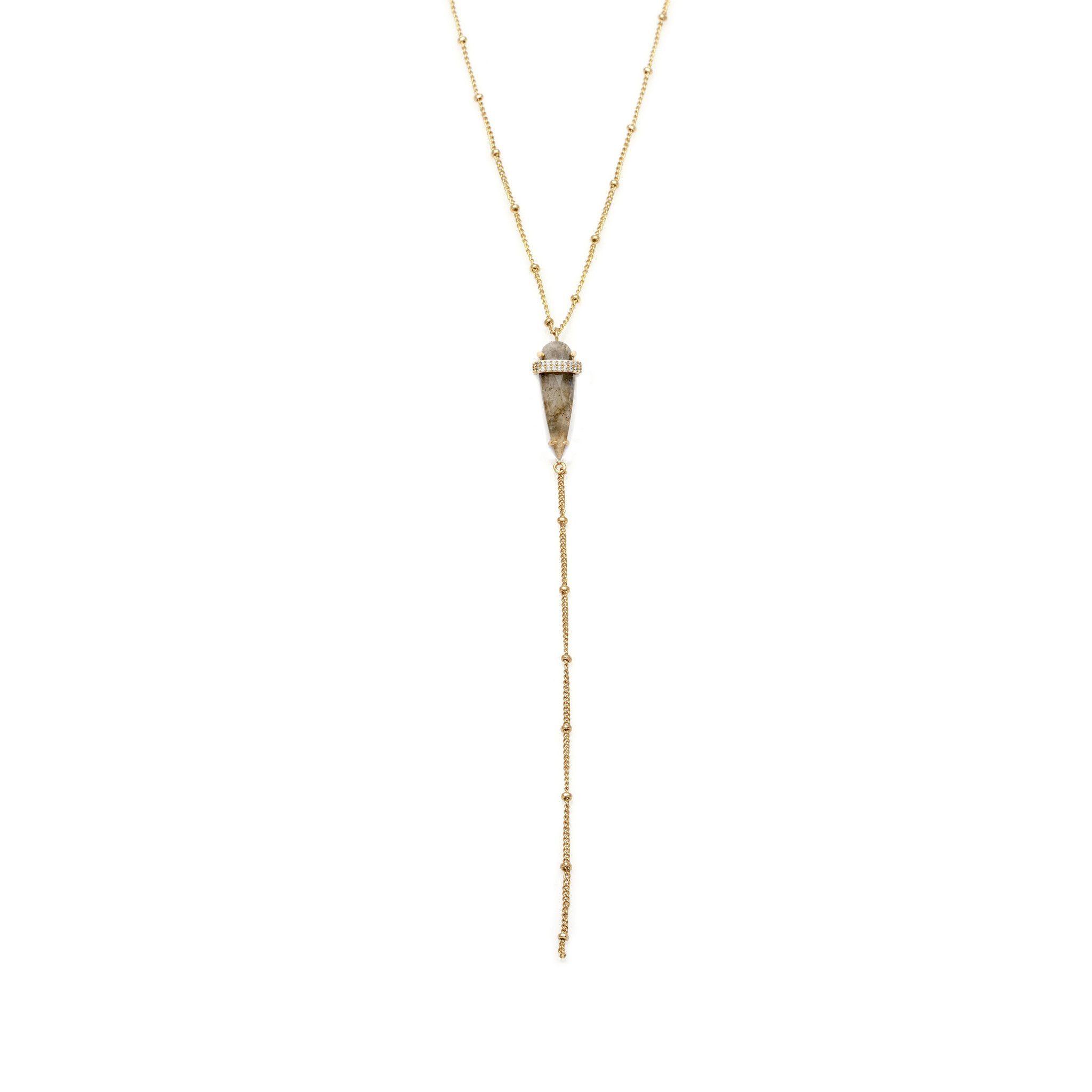Spear Lariat-Gold/Labradorite