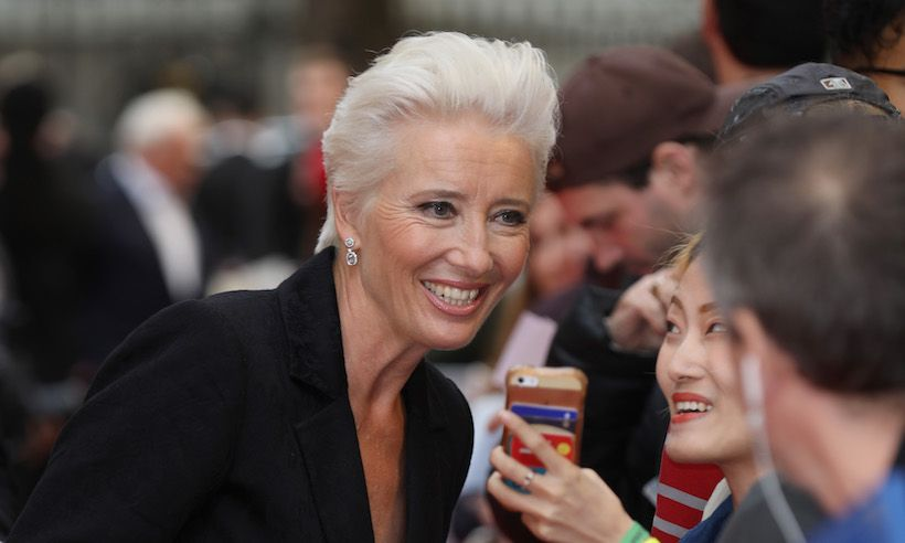 Emma Thompson 59 Is Embracing Her White Hair And She