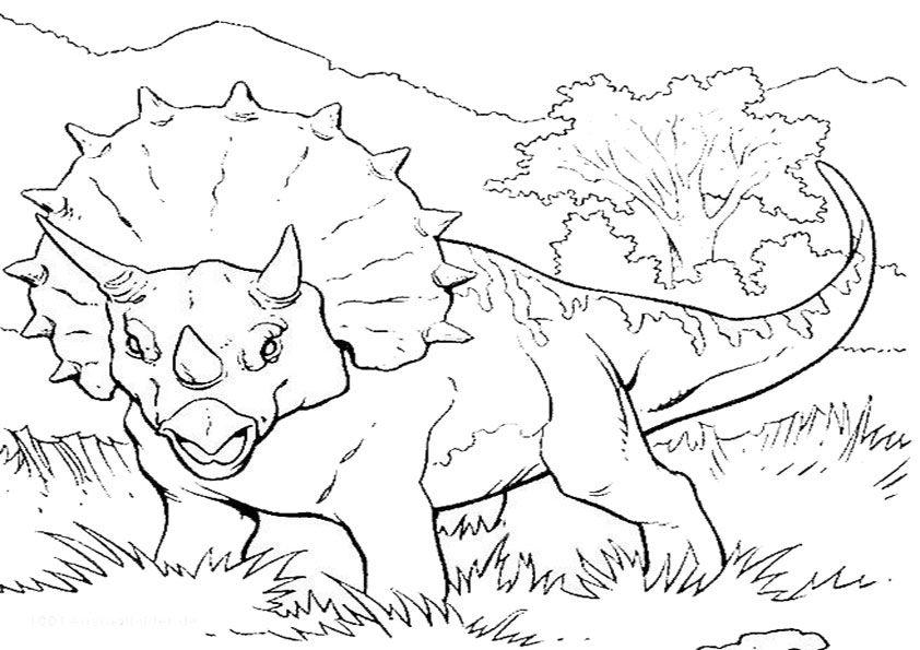 Malvorlagen Dinosaurier zum Ausdrucken | Ausmalbilder Jurassic World ...