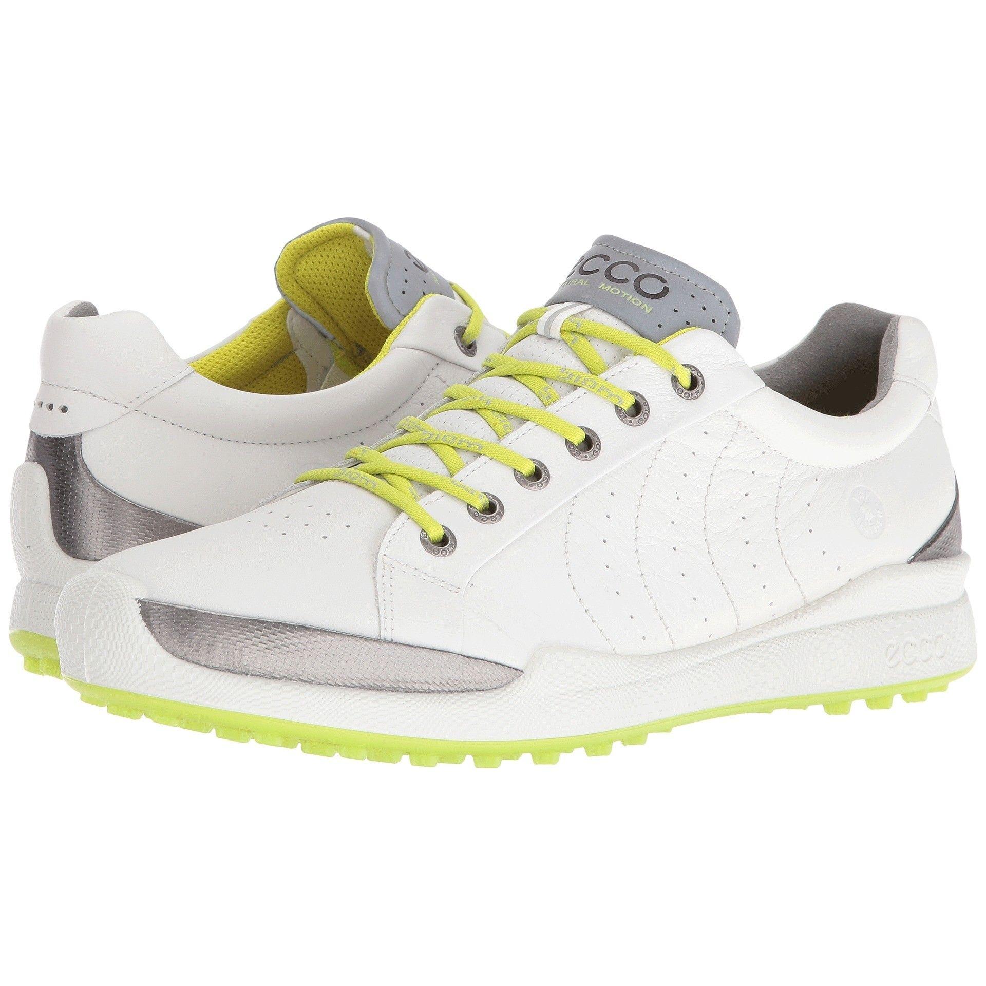 Ecco Biom Hybrid Hydromax Golf Shoe White Lime Punch Womens Golf Fashion Shoes Casual Shoes