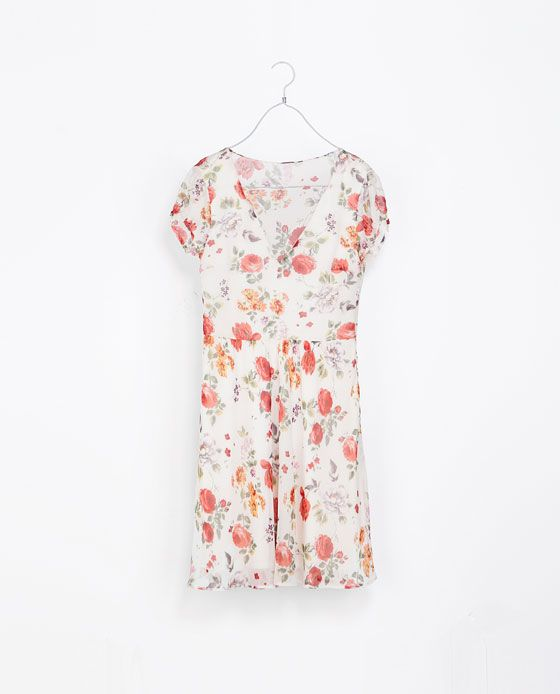 FLORAL PRINT DRESS - Zara <3 it !