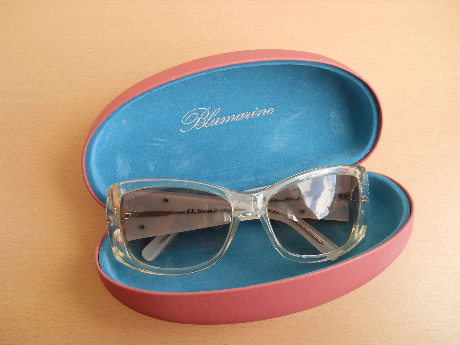 edaed86650 Oversized Frame. Designer Sunglasses. Made in Italy. 80s by VintageStyleEst  on Etsy