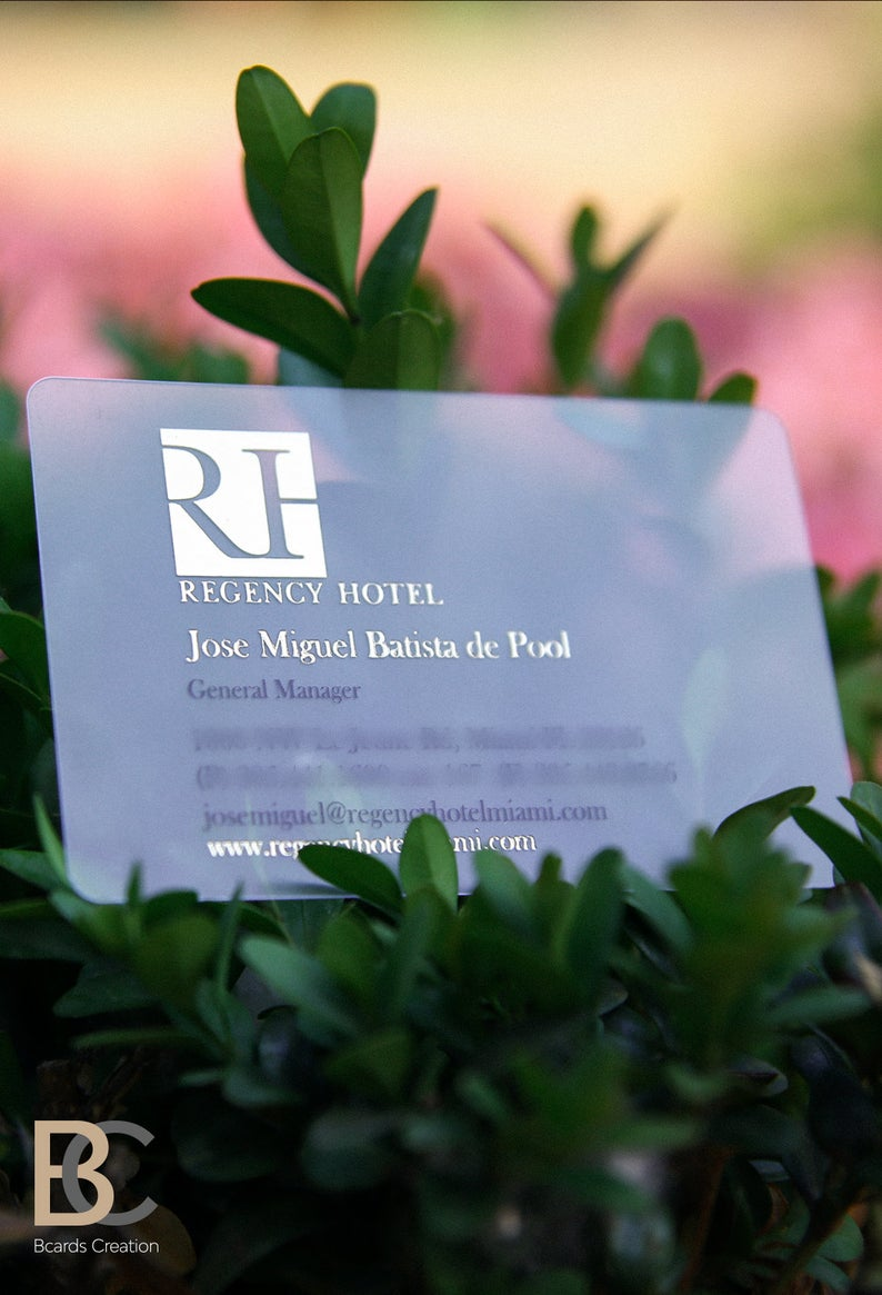 Frosted Foiled Plastic Business Cards Full Color Silhouette Etsy Plastic Business Cards Sell Gift Cards Online Make Business Cards