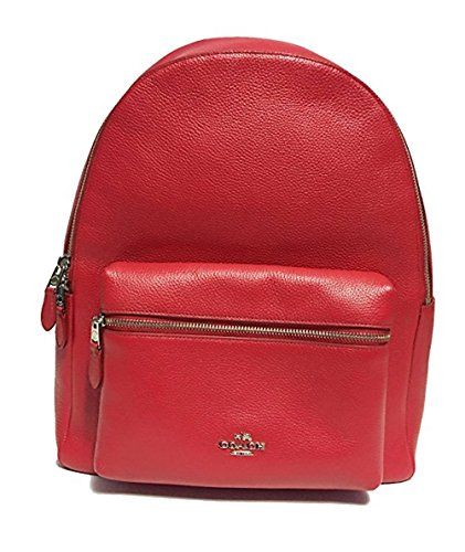 9959febd64db Coach Charlie Pebble Leather Backpack F38288 (True Red)