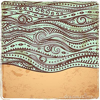 Vintage Waves Illustration - Download From Over 35 Million High Quality Stock Photos, Images, Vectors. Sign up for FREE today. Image: 37826734