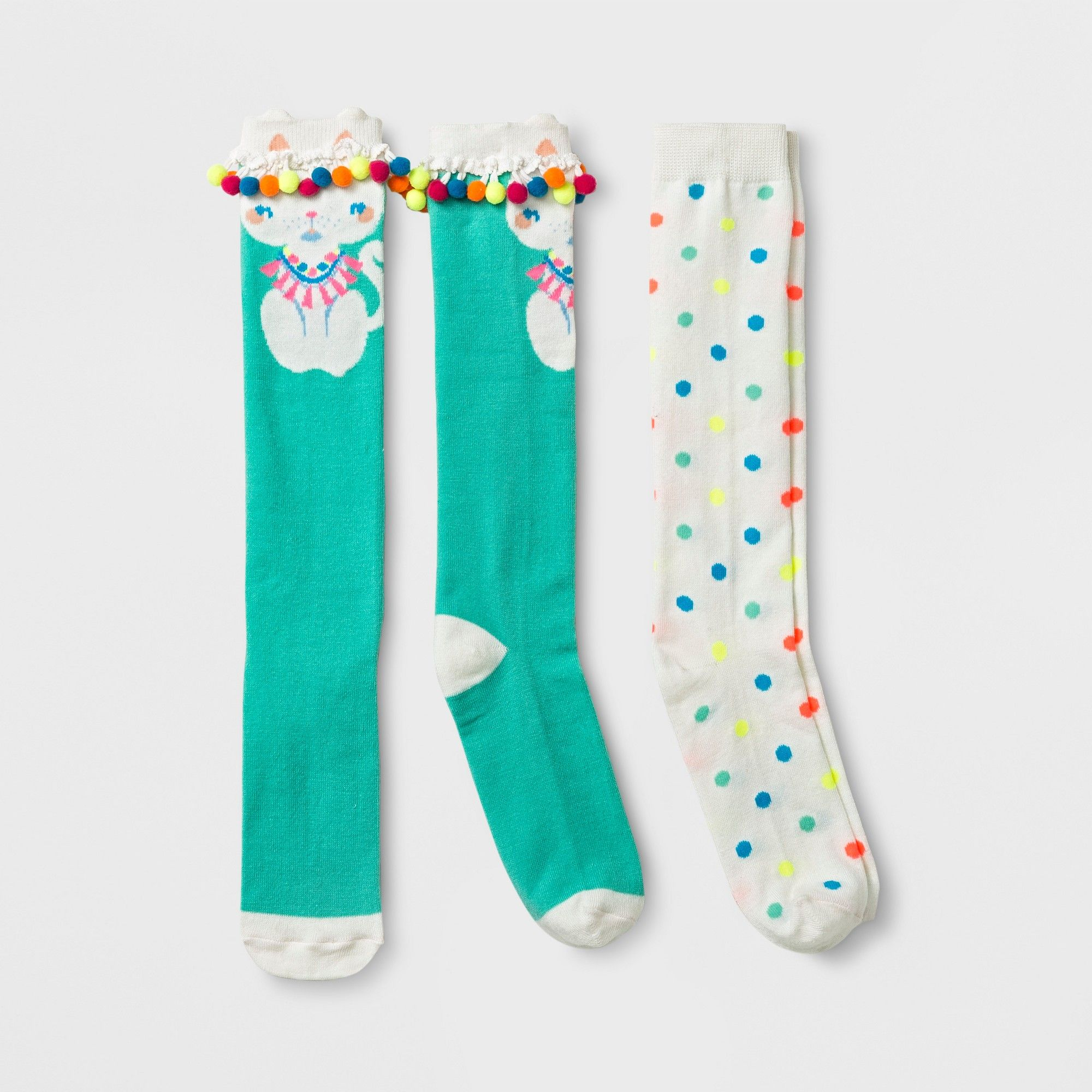 Hula Hooping Bunnies Sock It To Me Knee High Socks New Women 9-11 Rabbit Fashion