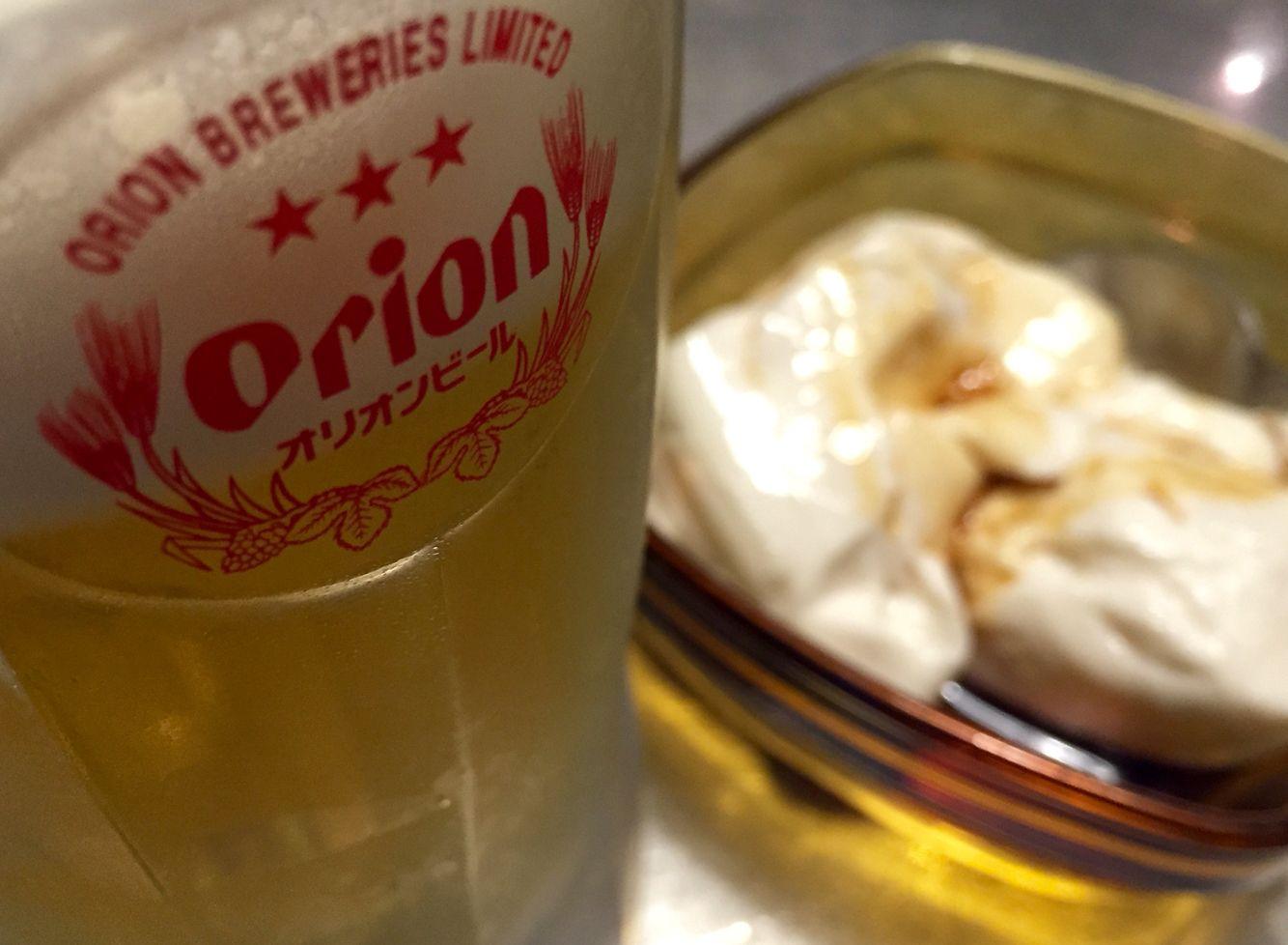 オリオンビール、やっぱり飲みやすい! @我達食堂