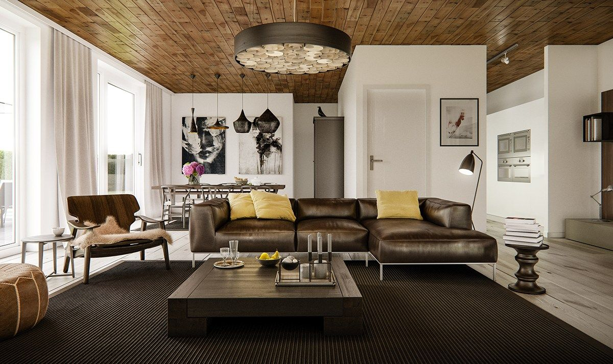 5 Living Rooms That Demonstrate Stylish Modern Design Trends Contemporary Living Room Design Stylish Living Room Loft Living Room Design
