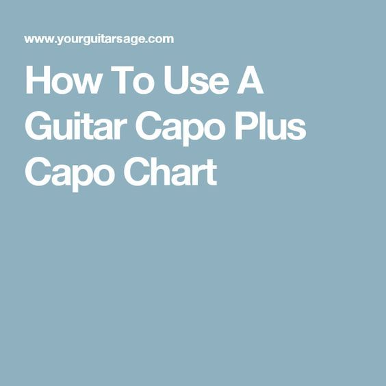 How To Use A Guitar Capo Plus Capo Chart  Music