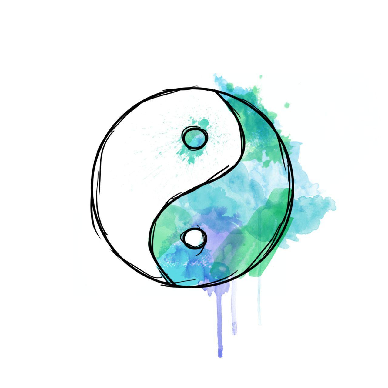 yin yang watercolor | Ink | Pinterest | Beautiful tattoos ...