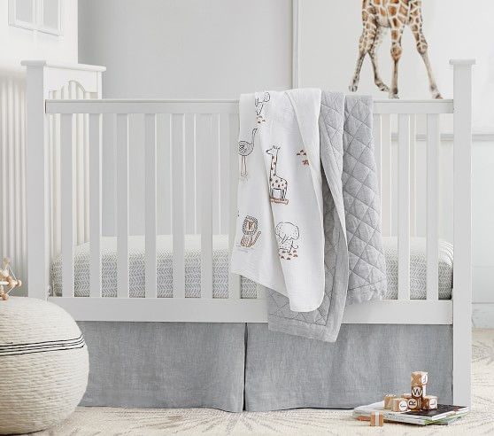 Kendall Fixed Gate Crib, Simply White Cribs, Pottery
