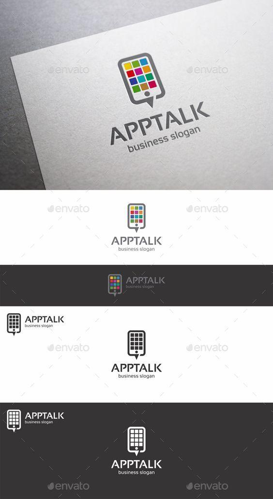 App Talk Logo Mobile App ( Applications ) Talk Logo