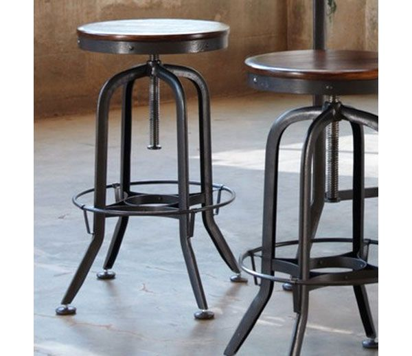 Swell Vintage Bar Stool Industrial Strength With Adjustable Height Caraccident5 Cool Chair Designs And Ideas Caraccident5Info