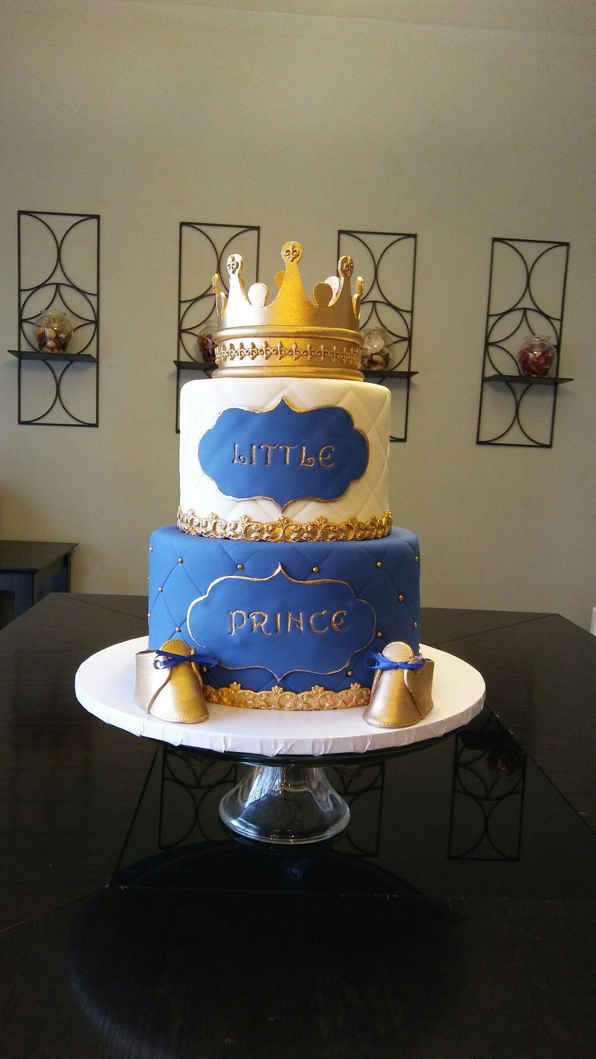 Little Prince baby shower cake Cakes By Miz Jenny