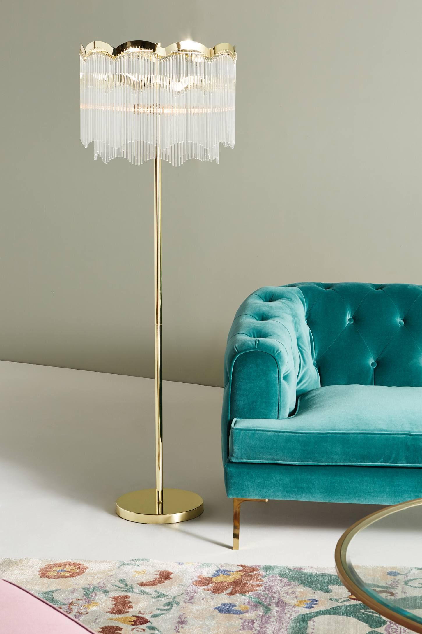 Living Room Waterfall Furniture Aarons Floor Lamp In 2018 Decor Pinterest Anthropologie House Goals My Dream Home