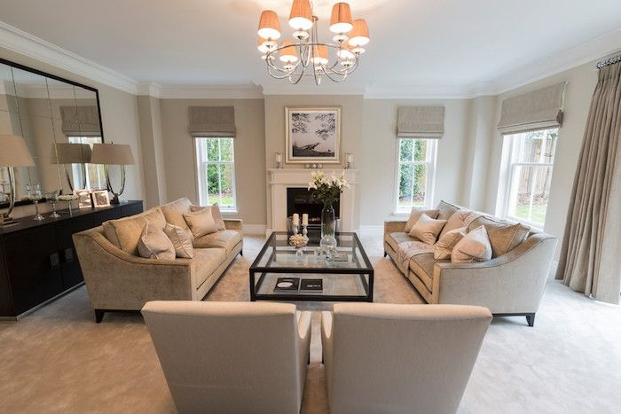 Salon Et Chambre Taupe Blanc Sejour Beige Clair Transitional Living Rooms  Decor Also Best Images Room