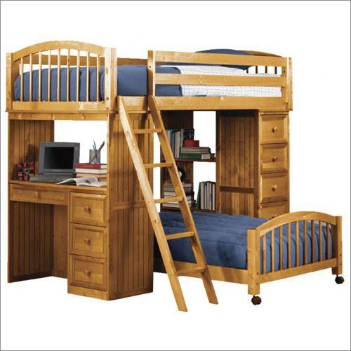 New Energy Woodland Pecan Student Loft Kids Bed