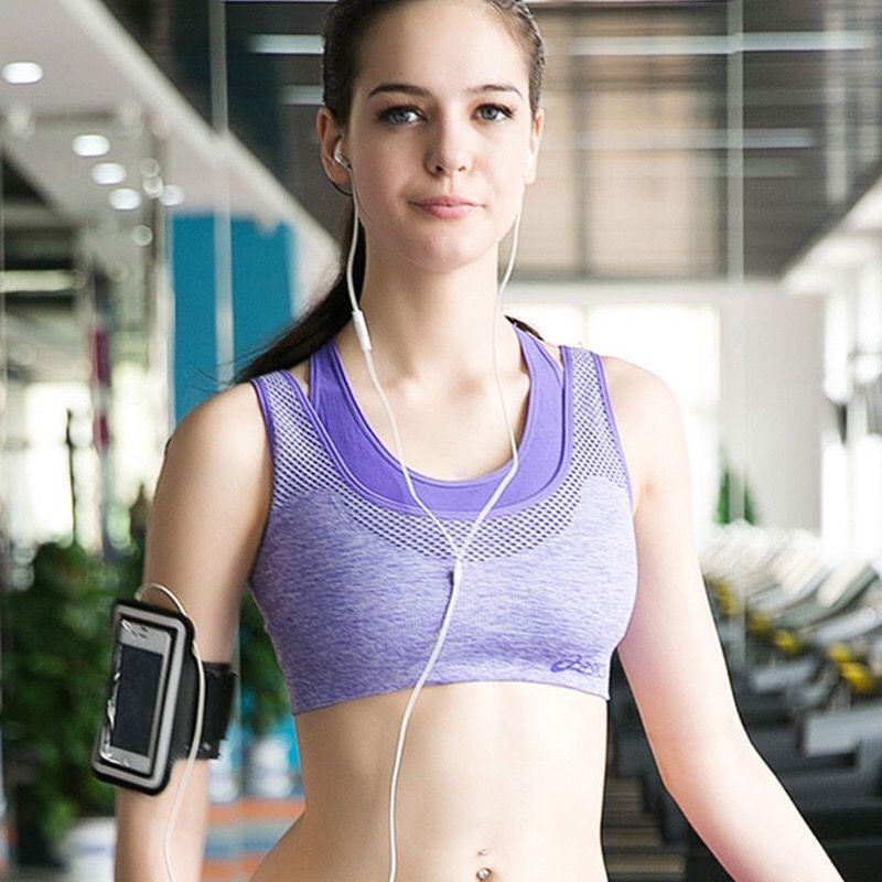 438ee808b4 No Rims false Two Sports Bra Underwear Shockproof Running Vest The New  Woman Yoga Bra Workout Clothes Underwear Training G703