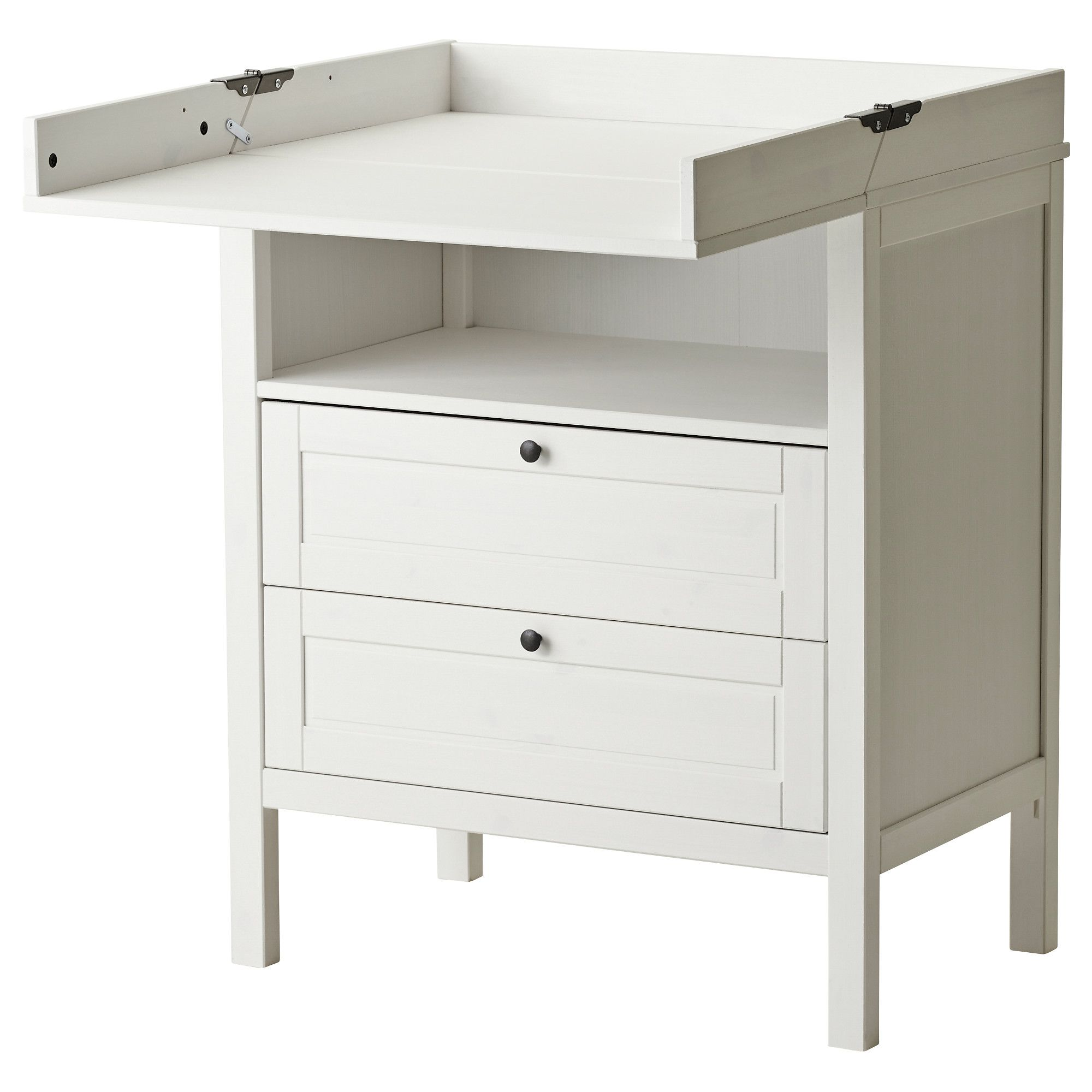 IKEA SUNDVIK Changing Table/chest Of Drawers Comfortable Height For Changing  The Baby.