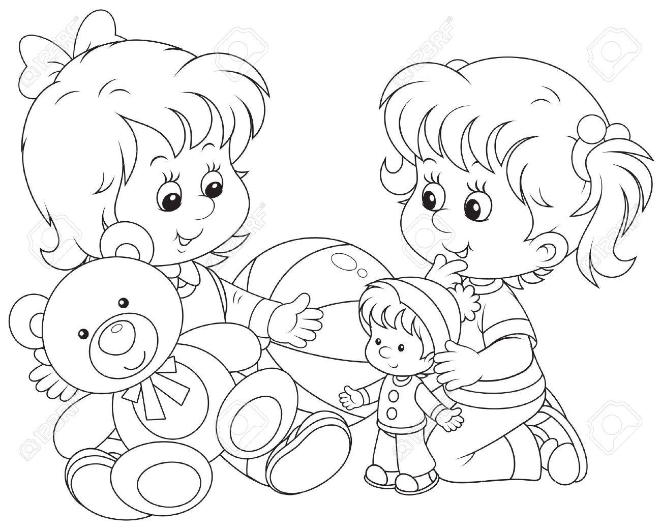 Картинки детский сад для детей раскраска