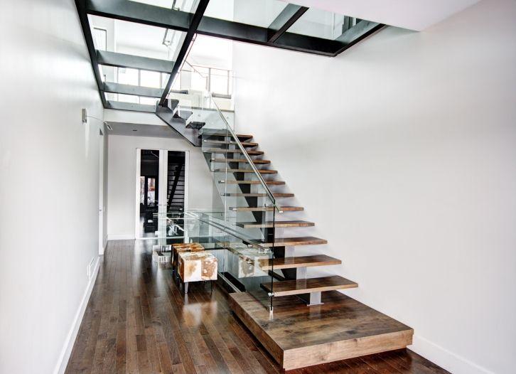 Single Stringer Staircase Escalier Escalier En Chene Escalier
