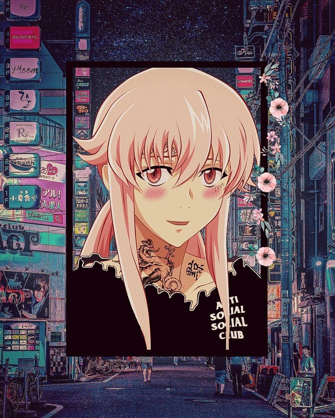 Pin By J I N K I E S My Glasses On Anime Anime Wallpaper Mirai Nikki Anime