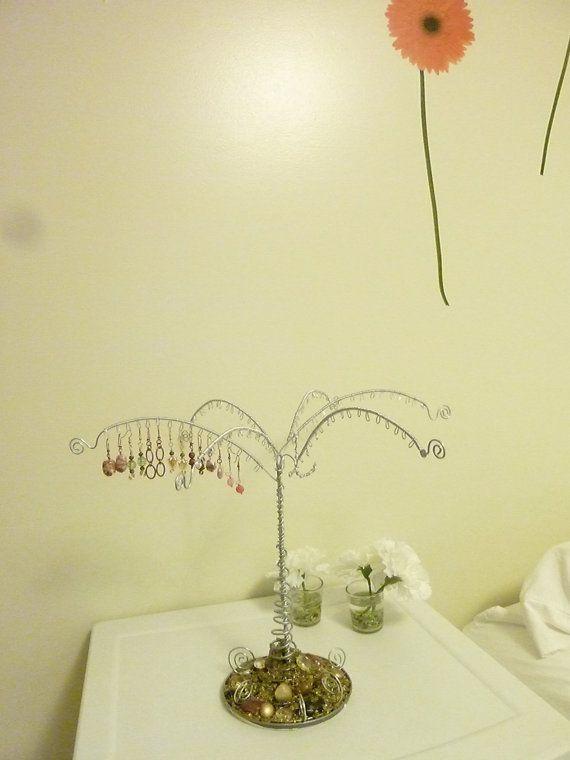 Amazing Wire Jewelry Tree Display Storage Rack by kellyscraftitems