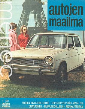 Autojen maailma 01 - 1968 (Simca tonni