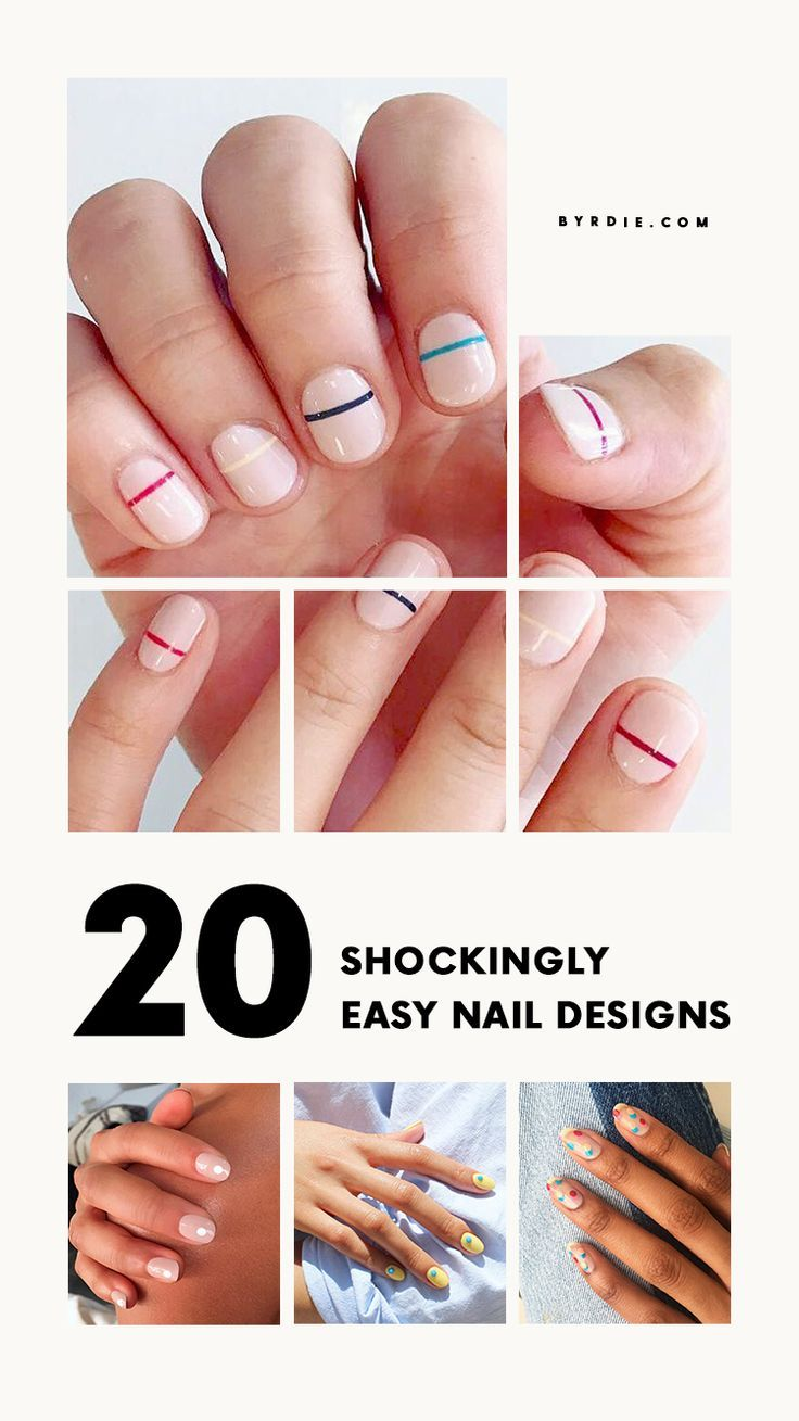 Shockingly Easy Nail Designs You Can Totally Do at Home   Nail