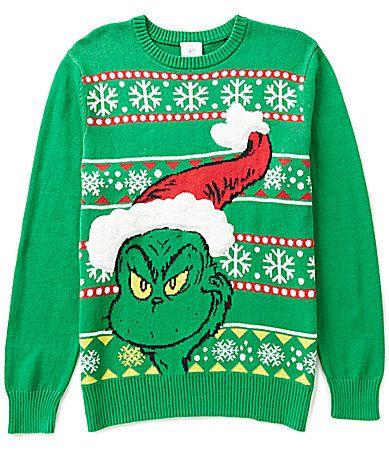 the grinch grinchmas christmas sweater dillards