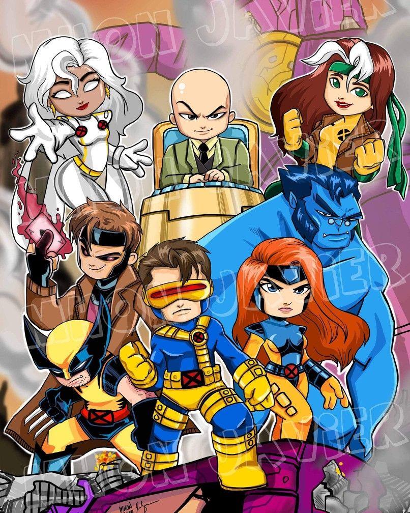 90s X Men By Mhon Javier Arts And Caricatures Chibi X Men Comic Art