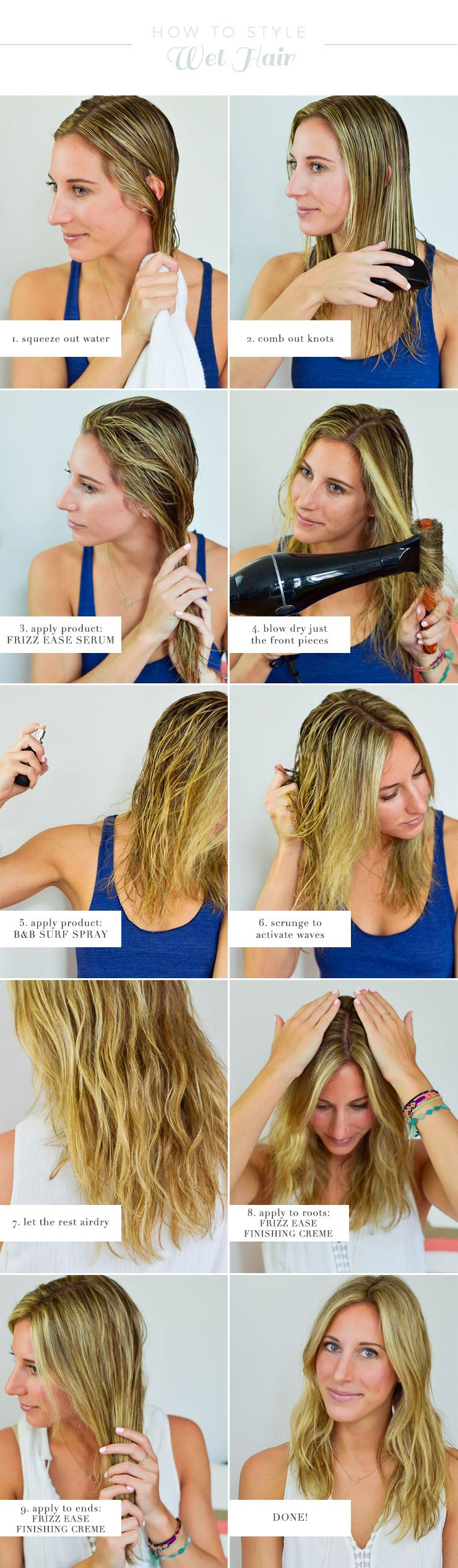 How To Style Wet Hair Air Dry Hair Hair Hair Styles