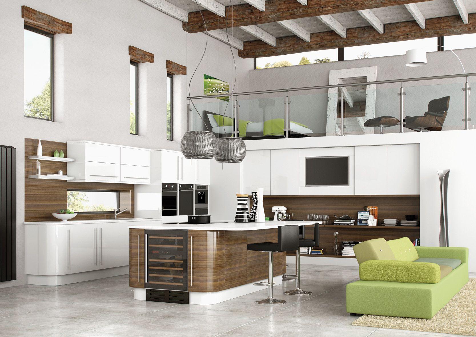 Kitchen Awesome Modern Open Kitchen Design And Modern Kitchen