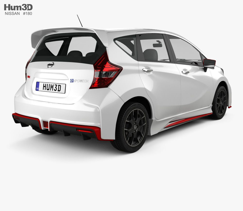 3d Model Of Nissan Note E Power Nismo 2016 Nissan Note Nissan Nissan Cars