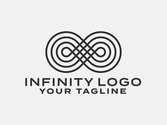 Infinity Symbol Logo Template Templates The Is A Cool High Quality Design Which Can Be Customised To Suit Any By Psdblast