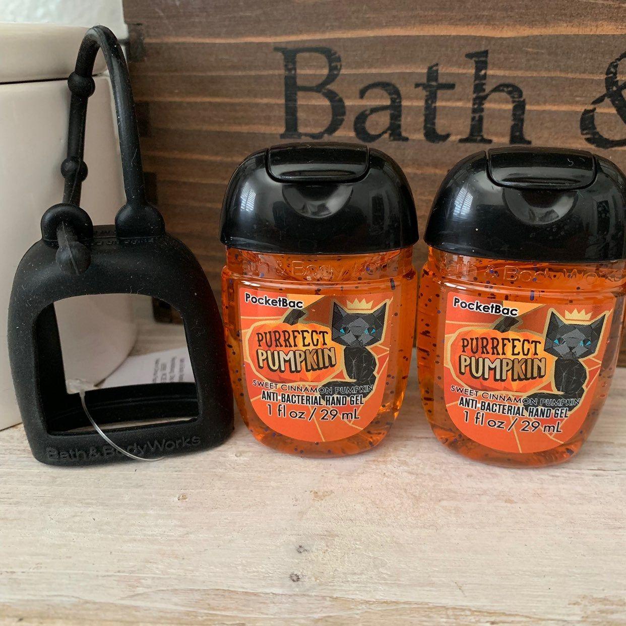 Bath Body Works 2019 Halloween Pocketbac Set Black Silicone