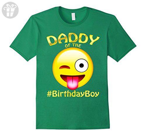 Mens Daddy Of The Birthday Boy Emoji T-Shirt for Dad - Father XL Kelly Green - Birthday shirts (*Amazon Partner-Link)