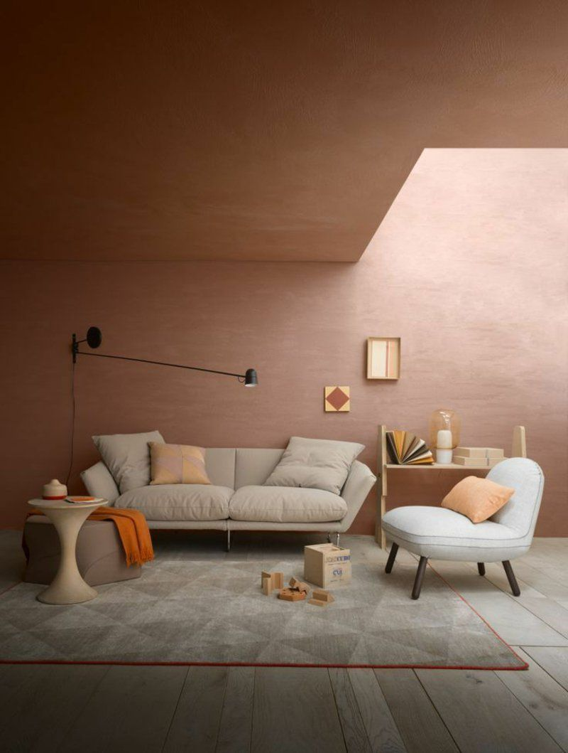 Wohnideen Und Trends Wandfarben   Braun Und Kupfer Kombinieren