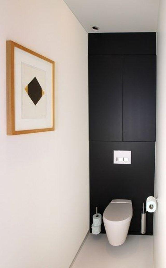 Idée déco WC | Toilet, Small bathroom and Powder room