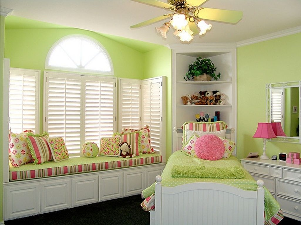 Pink and green rooms cute pink and green bedroom pink for Children bedroom designs girls