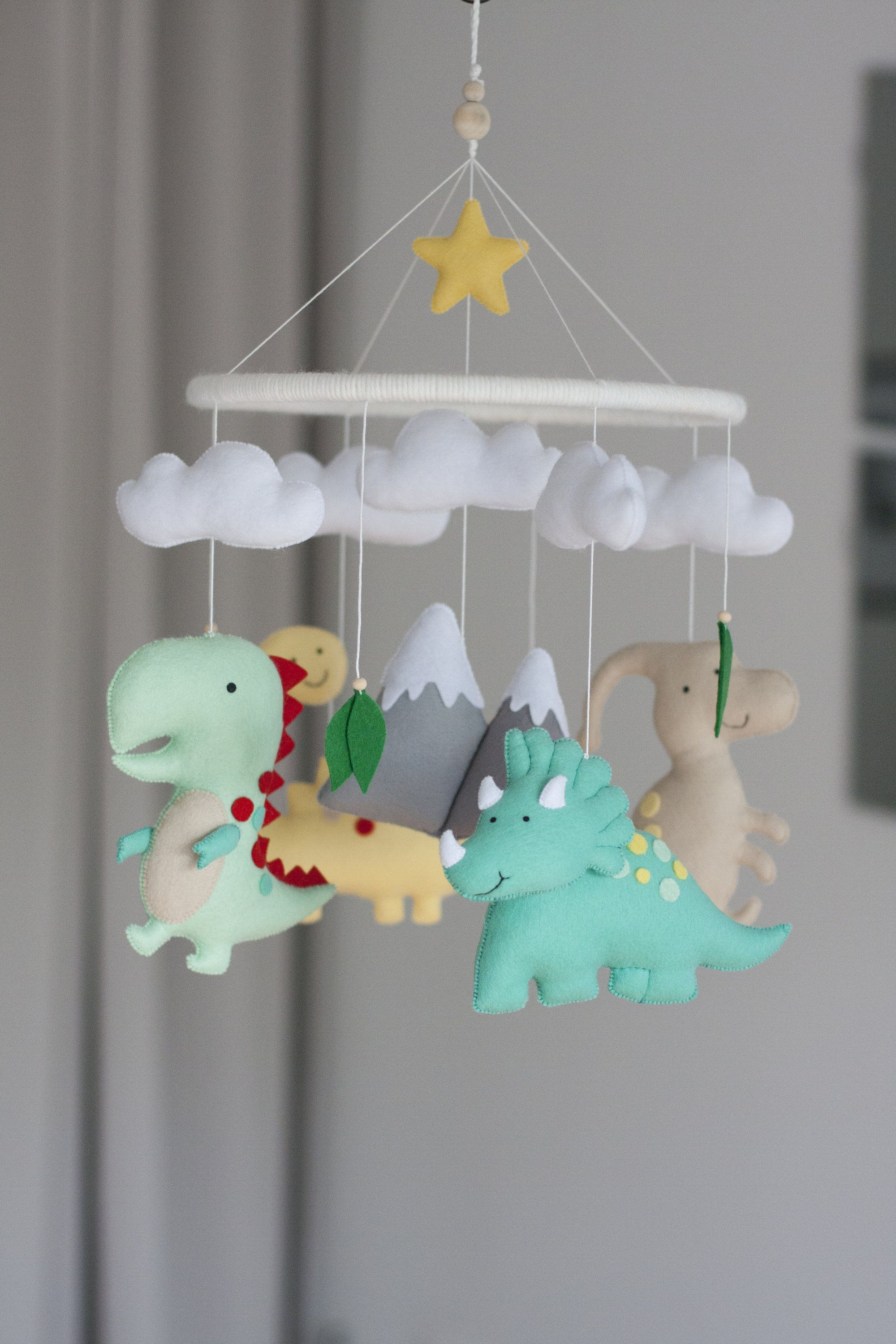 Dinosaur mobile/Adorale Little Dinosaurs for nursery/Baby mobile with dinosaurs for baby nursery/ nursery decor/