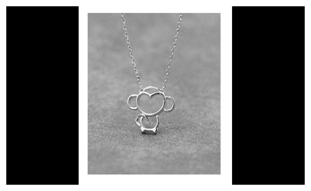 Beautiful Gift Silver Cartoon Monkey Pendant Necklace
