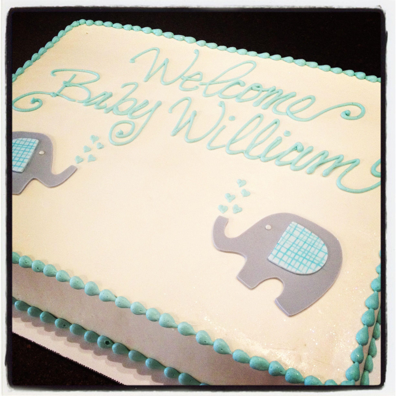 Elephant Baby Shower Cake Cami's Cake Co. - Eudora, KS Www.facebook.com/camiscakeco