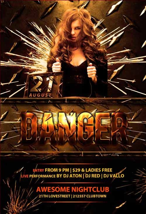 Danger club flyer template httpsnoobworxstoredanger club enjoy this free flyer template from our friends at awesomeflyer the free danger club flyer template was designed to promote your next dj club and nightclu saigontimesfo