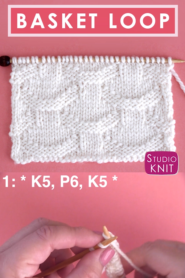 Photo of Basket Loop Stitch Knitting Pattern