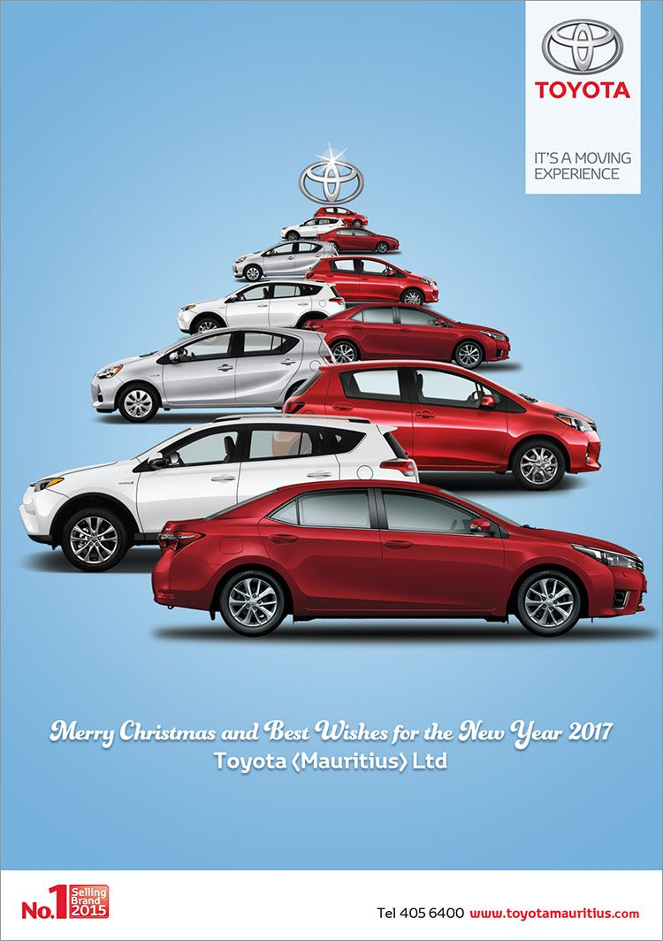 Toyota Mauritius Ltd Merry Christmas And Best Wishes Tel 405
